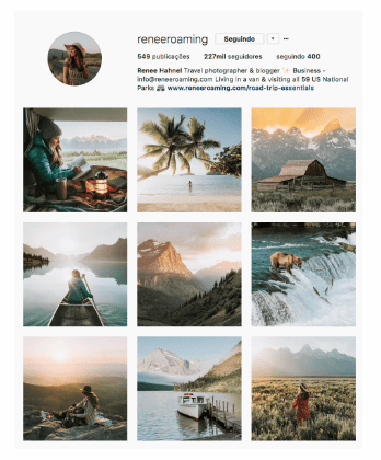 Tema visual feed Instagram